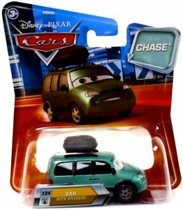 Disney / Pixar CARS Movie 1:55 Die Cast Car with Lenticular Eyes Series 2 Van with Stickers Chase Piece!
