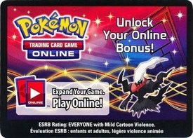 Pokemon Darkrai Tin Promo Code Card for Pokemon TCG Online