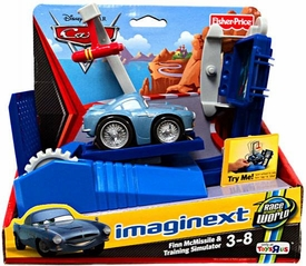 Disney / Pixar CARS 2 Movie Imaginext Exclusive Finn McMissle & Training Simulator