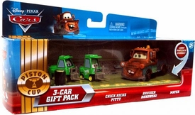 Disney / Pixar CARS Movie 1:55 Die Cast Cars 3-Car Gift Pack Chick Hicks Pitty, Bruiser Bukowski & Mater [Lenticular Eyes!]