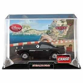 Disney / Pixar CARS 2 Movie Exclusive 1:43 Die Cast Car In Plastic Case Stealth Finn {All Black} Chase Edition!
