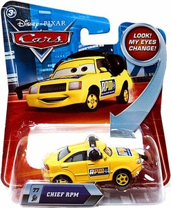 Disney / Pixar CARS Movie 1:55 Die Cast Car with Lenticular Eyes Series 2 Chief RPM