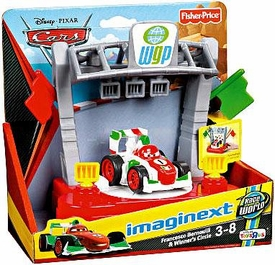 Disney / Pixar CARS 2 Movie Imaginext Exclusive Francesco Bernoulli & Winners Circle