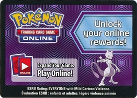 Pokemon Mewtwo Box Promo Code Card for Pokemon TCG Online