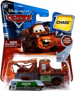 Disney / Pixar CARS Movie 1:55 Die Cast Car with Lenticular Eyes Series 2 Glow In The Dark Lamp Mater Chase Piece!