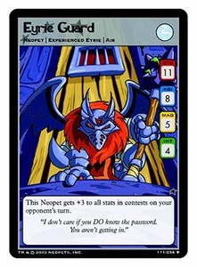 Neopets Trading Card Game Uncommon Single Card #111 Eyrie Guard