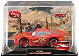 Disney / Pixar CARS 2 Movie Exclusive 1:43 Die Cast Car In Plastic Case Intro McQueen Chase Edition!