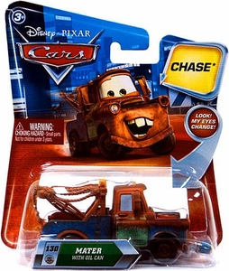 Disney / Pixar CARS Movie 1:55 Die Cast Car with Lenticular Eyes Series 2 Mater with Oil Can Chase Piece!