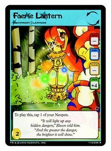 Neopets Trading Card Game Uncommon Single Card #112 Faerie Lantern