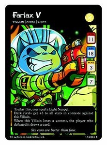 Neopets Trading Card Game Uncommon Single Card #114 Farlax V
