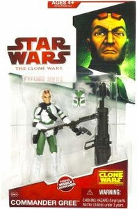 Star Wars 2009 Clone Wars Animated Action Figure CW No. 09 Commander Gree