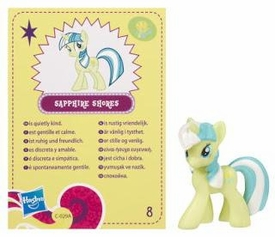 My Little Pony Friendship is Magic 2 Inch PVC Figure Series 4 Sapphire Shores