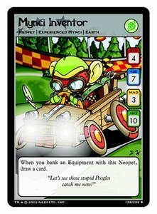 Neopets Trading Card Game Uncommon Single Card #128 Mynci Inventor