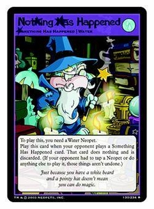 Neopets Trading Card Game Uncommon Single Card #130 Nothing Has Happened