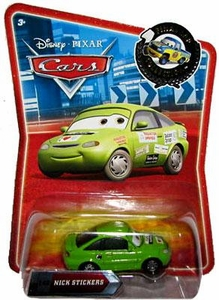 Disney / Pixar CARS Movie Exclusive 1:55 Die Cast Car Final Lap Nick Stickers