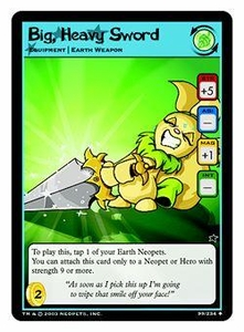 Neopets Trading Card Game Uncommon Single Card #99 Big, Heavy Sword