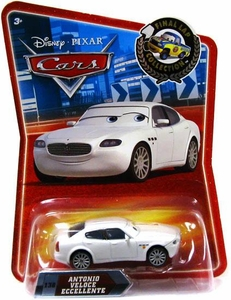 Disney / Pixar CARS Movie Exclusive 1:55 Die Cast Car Final Lap Antonio Veloce Eccellente