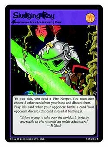 Neopets Trading Card Game Uncommon Single Card #141 Sludging Ray