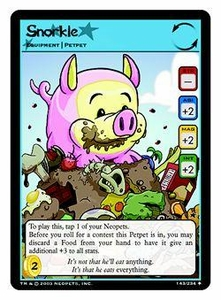 Neopets Trading Card Game Uncommon Single Card #143 Snorkle