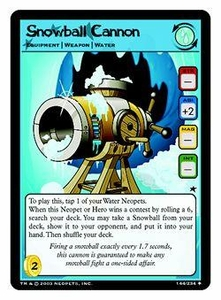 Neopets Trading Card Game Uncommon Single Card #144 Snowball Cannon