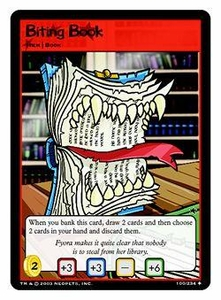 Neopets Trading Card Game Uncommon Single Card #100 Biting Book
