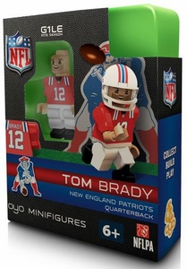OYO Football NFL Building Brick Minifigure Throwback Jersey Tom Brady [New England Patriots]