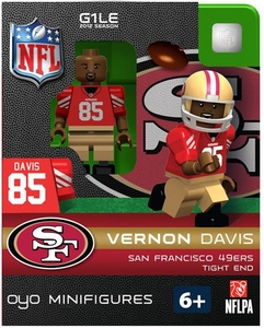 OYO Football NFL Building Brick Minifigure Vernon Davis [San Francisco 49ers]