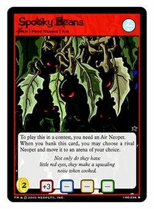 Neopets Trading Card Game Uncommon Single Card #146 Spooky Beans