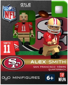 OYO Football NFL Building Brick Minifigure Alex Smith [San Francisco 49ers]