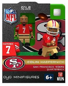 OYO Football NFL Building Brick Minifigure Colin Kaepernick [San Francisco 49ers]