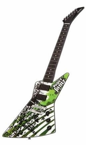 Paper Jamz Instant Rock Star Series 1 Guitar Green & Black {Rock 5}