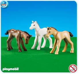Playmobil Pony Ranch Set #7996 3 Foals