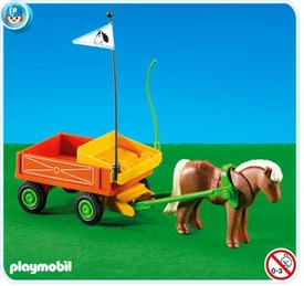 Playmobil Pony Ranch Set #7493 Pony Wagon