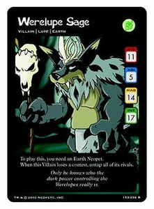 Neopets Trading Card Game Uncommon Single Card #153 Werelupe Sage
