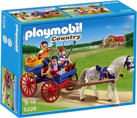 Playmobil Pony Ranch Set #5226 Horse-Drawn Carriage