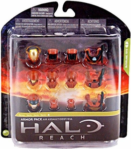 Halo Reach McFarlane Toys Series 4 Exclusive RUST Armor Pack [Air Assault, ODST, EVA] COLLECTOR'S CHOICE!