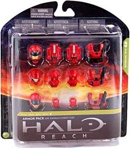 Halo Reach McFarlane Toys Series 4 Exclusive RED Armor Pack [Air Assault Armor, ODST & CQC] COLLECTOR'S CHOICE!