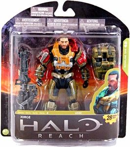 Halo Reach McFarlane Toys Series 4 Action Figure Jorge [Noble 5] {Unmasked}