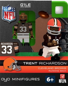 OYO Football NFL Building Brick Minifigure Trent Richardson [Cleveland Browns]