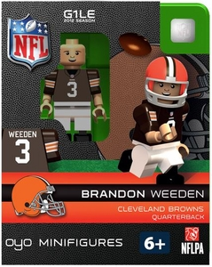 OYO Football NFL Building Brick Minifigure Brandon Weeden [Cleveland Browns]