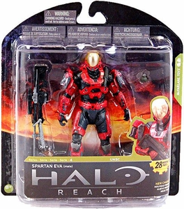 Halo Reach McFarlane Toys Series 4 Exclusive Action Figure TEAM RED Spartan EVA {Male} COLLECTOR'S CHOICE!