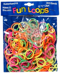 Fun Loops 300 Rainbow Rubber Bands with 'S' Clips