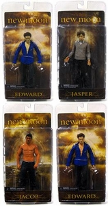 NECA Twilight Series 2 Set of 4 New Moon Movie Action Figures [Jacob, Jasper, Edward & Sparkle Edward]