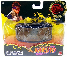 Naruto Headband Official Mattel Epic Combat Battle Damage Sand Head Band