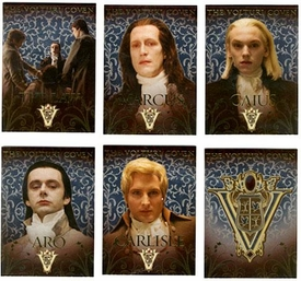 NECA Twilight Movie New Moon Chase Cards Volturi Coven Set [6 Cards]