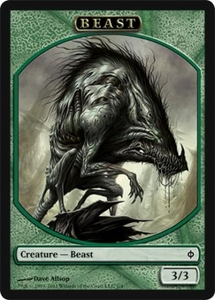Magic the Gathering New Phyrexia Single Card Beast Token