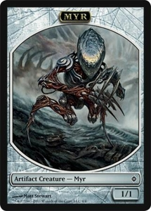 Magic the Gathering New Phyrexia Single Card Myr Token