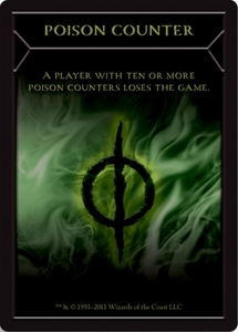 Magic the Gathering New Phyrexia Single Card Poison Token
