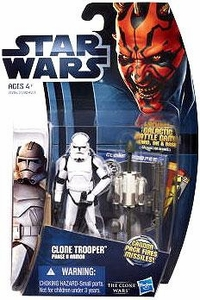 Star Wars 2012 Clone Wars Action Figure #02 Clone Trooper {Phase II Armor} [Cannon Pack Fires Missiles!]