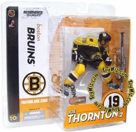McFarlane Toys NHL Sports Picks Series 10 Action Figure Joe Thornton (Boston Bruins) Black Jersey Variant